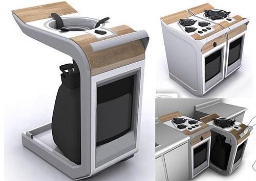 آلة للمطبخ متنقلة لإعداد الطعام في الحديقة أو خارج