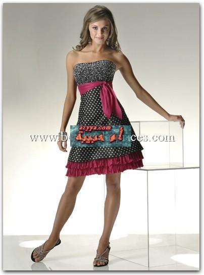رد: % شياكة وجمال الفساتين القصيرة فى السهرة%حصرى