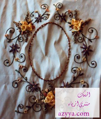 تطريز يدوي فخامه وذوق غير شكل ..{ حصري }..