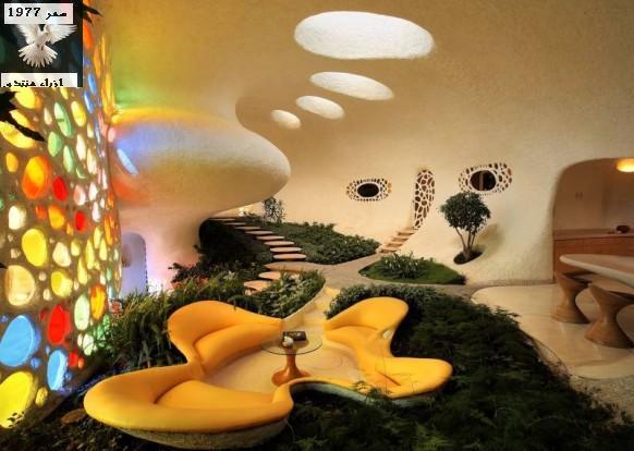 بيت مبتكرة غريييييبة جدا لكن جميلة جدا