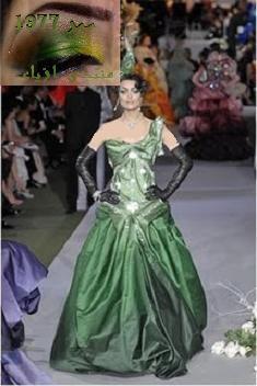 السلام عليكم هل يوجد فساتين زفاف باللون الأخضر ؟ نعم