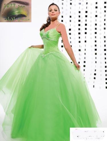 اخرى مثلالخضر نترككم للصور فساتين زفاف باللون الأخضر ؟؟ ايه
