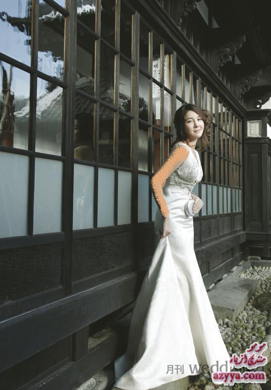 فساتين سهرة الى اخت العروس تالقي بالابيض 2010