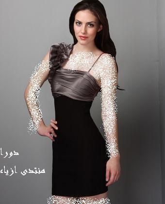 نعومه و روعهفساتين سهره قصيره...فساتين بدرجات الرماديكوبكشن ازياء صيف 2012