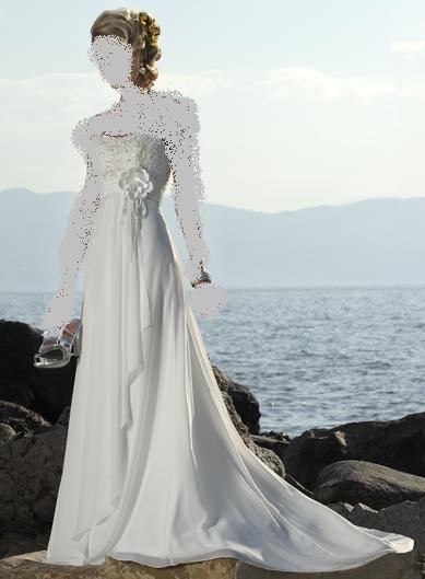 فساتين لحفل زفاف على البحر