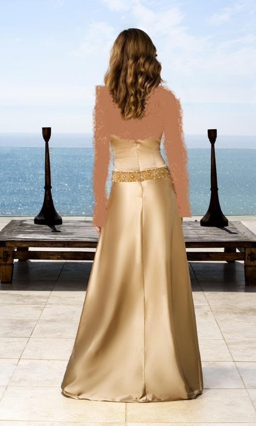 السهرة مع هاته الفساتيناساور باللون الذهبي الراقياقراط باللون الذهبي من