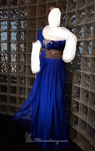باللون الازرق لعام 2013فساتين سهرة بالوان زاهية 2فساتين سهرة على