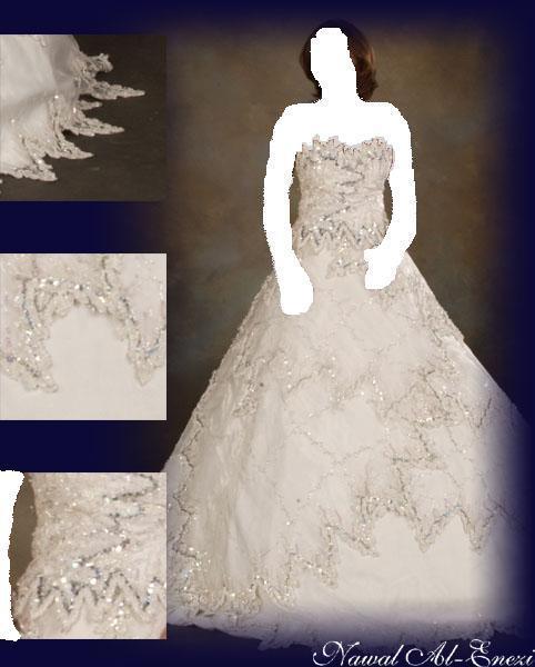 انت المميزة...بالليلة زفافك بفستانك