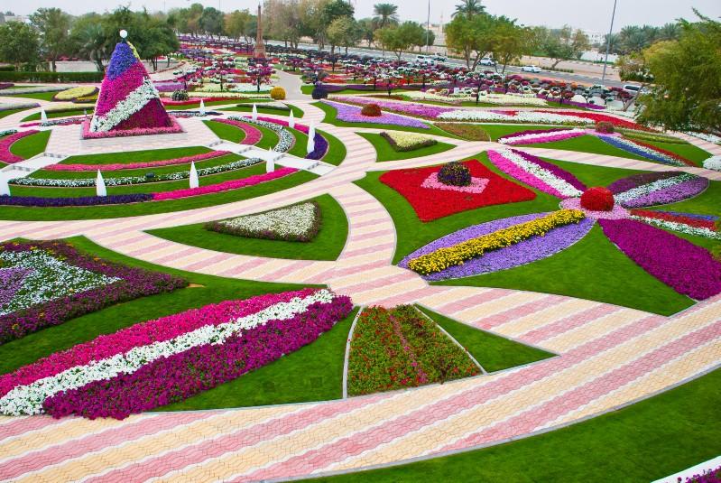العين بدولة الإمارات العربية المتحدة، حيث تشغل الحديقة مساحة قدرها