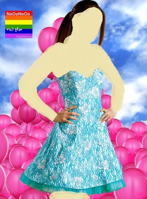 2014فساتين سهرة باللون الازرق,للمصمم جورج حبيقة لصيف 2014فساتين سهرة للمصمم