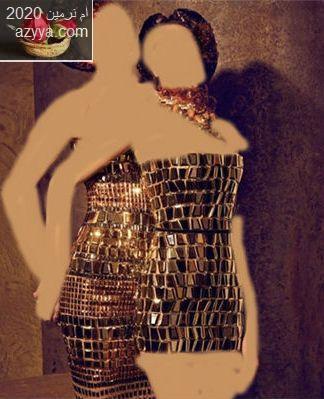 فستان قيموني اذا عجبكممجموعة للسهرة ........روعة حصريا ....روعة الذهبى للسهرة
