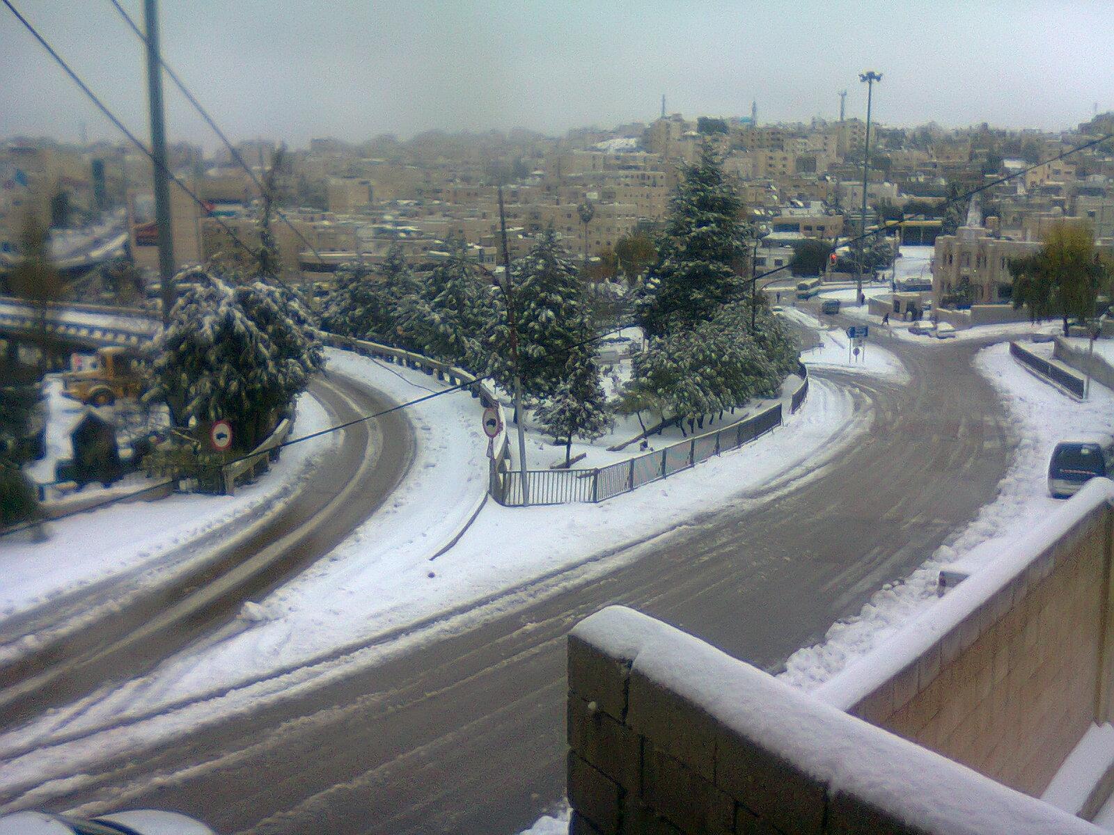 الأردن عمان الجزء الثالث السنه الثالثة تصويريتصويري الثلج في جرشمن