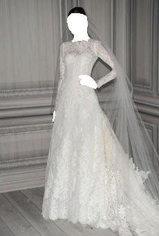 اكتشفي اتجاهات الموضة في تصاميم فساتين زفاف 2012