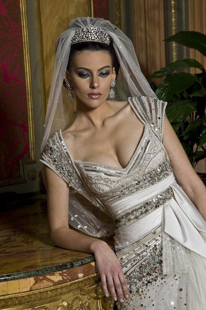 بلون, زفاف, فساتين فساتين زفاف بلون الفضي و الذهبي -2012