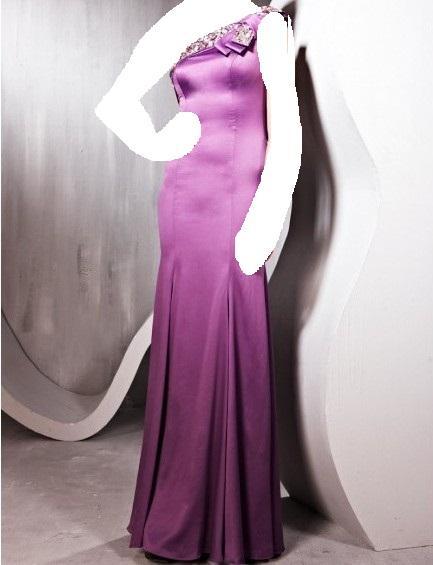 نيكولا جبرانفساتين سهرة باللون البنفسي والاسود ,للمصمم جورج حبيقة صيف2014فساتين
