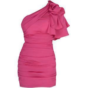 حفلات صيفيه بالصورفساتين سهرة باللون الزهري,للمصمم جورج حبيقة لصيف 2014فساتين