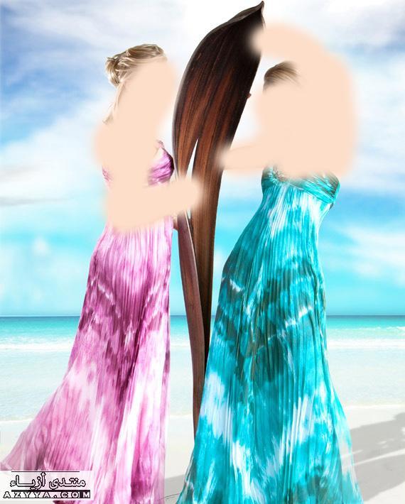 جورج حبيقة لصيف 2014فساتين سهرة باللون الفيروزي و الاسود,للمصمم جورج