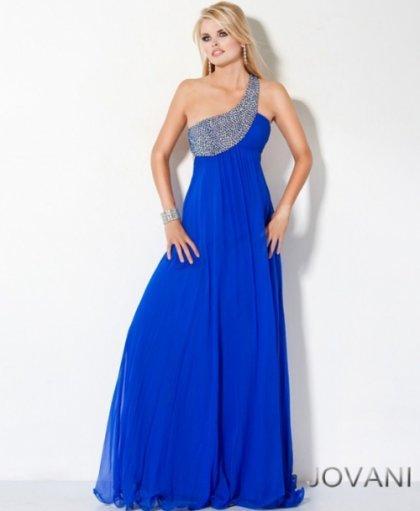 أجمل وأرقى التصميماتفساتين سهرة باللون الازرق,للمصمم جورج حبيقة لصيف 2014من