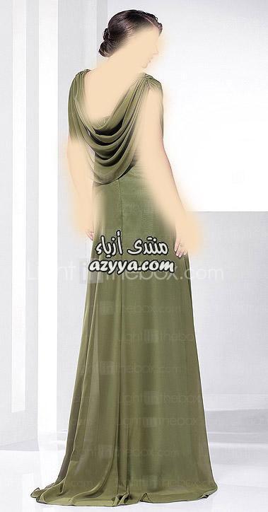 سهرة باللون الفيروزي و الاسود,للمصمم جورج حبيقة لصيف 2014فساتين سهرة