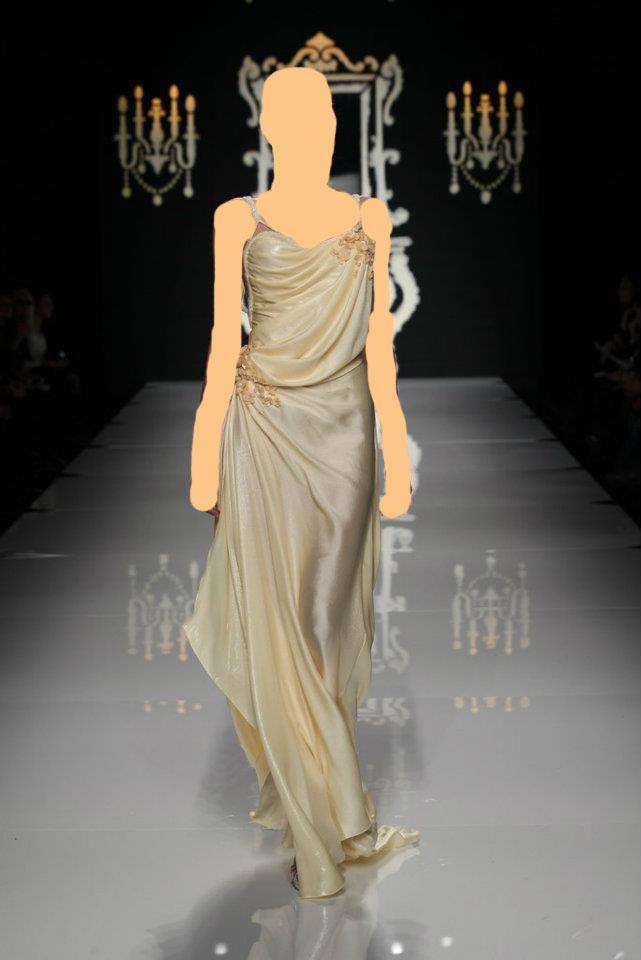 بحزام الساتان لفساتين الزفافمجموعة فيكتوريا بيكهام خريف وشتاء 2014ــ أزياءمثالية