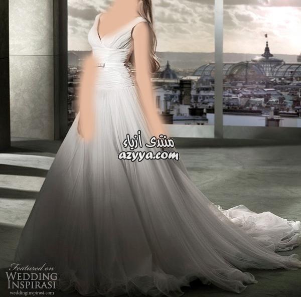 ec4312a20 فساتين زفاف فرنسيه 2012