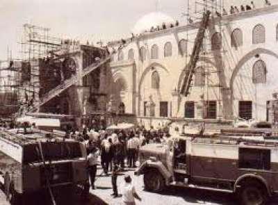 المساحة المحترقة من المسجد الأقصى أكثر من ثلث مساحته الإجمالية،