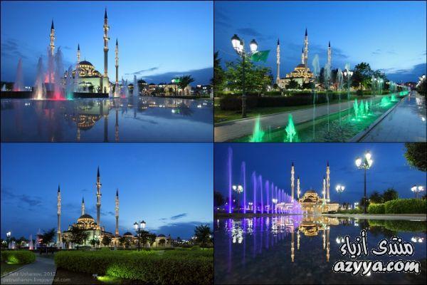 ~ مسجد قلب الشيشان ~ تحفه في العمارة الاسلامية