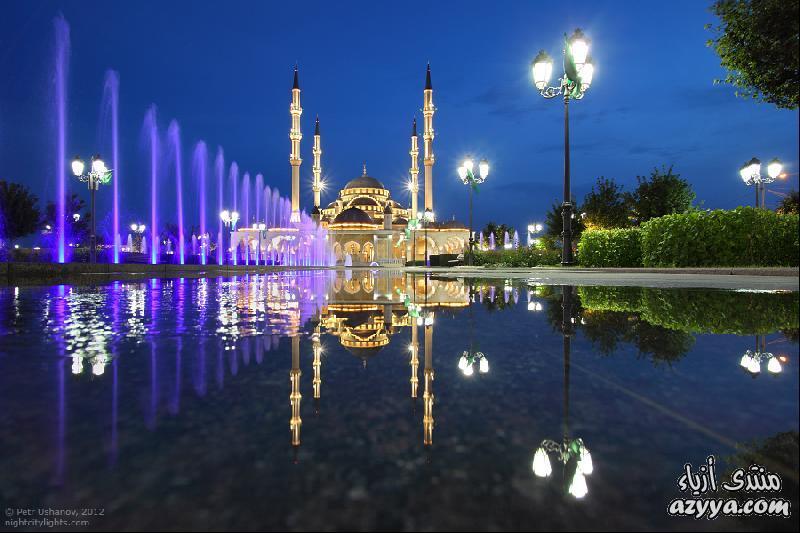 إنشاء جامع في وسط غروزني عاصمة الشيشان. لكن أعمال البناء