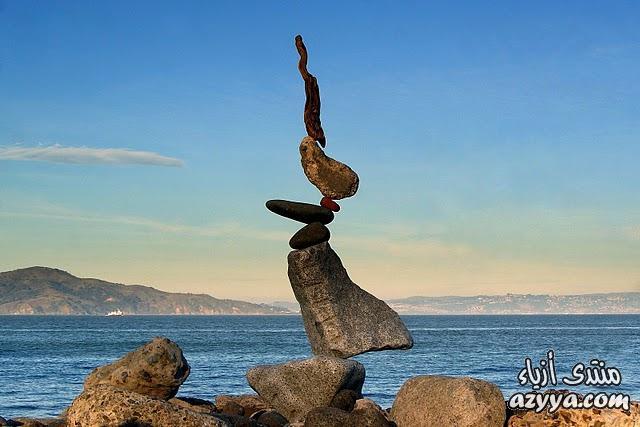 """[SIZE=""""6""""][\/ فن التوازن في تركيب الصخور فوق بعضها النظرة"""