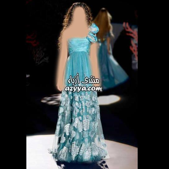 شياكة تفوق الوصفأزياء للسهره هاتعجبكفساتين ناعمة للصبايا 2014فساتين سهره مميزه