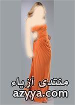 2014 للمصمم جورج حبيقة , باللون الابيضديكورات باللون البرتقالي لصفاء