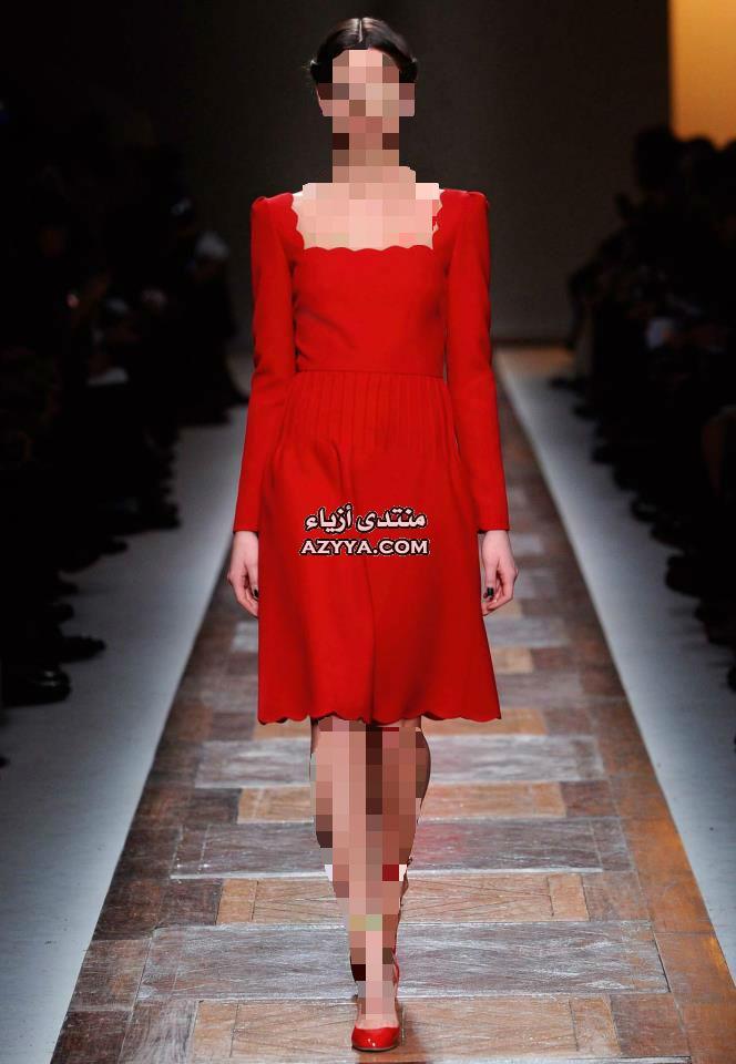 أسبوع باريس للهوت كوتور 2014فساتين سهرة باللون الازرق,للمصمم جورج حبيقة