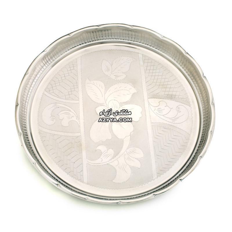 مائدتك باطباق رفيعة صحون من الفضة لتزين مائدتك الراقية