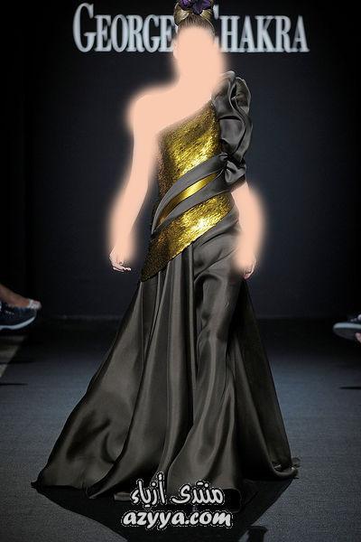لعام 2014اللون الاسود الاكثر اناقه بفساتين السهرهمجموعة جورج شقرا 2012