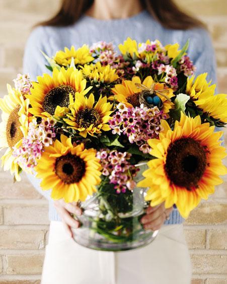 اختيار أحجام الأزهار و أطوالها و أنواعها و طريقة توزيعها