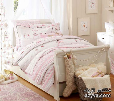 جدار السريرغرف نوم باللون تيراكوازيأفكار لديكور المنزل باللون الزهريمفارش شتاء