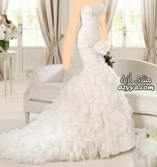 كلاسيكية للأميراتفساتين زفاف فرنسيةفساتين زفاف للمصمم عبد محفوظ ,كولكشن 2014