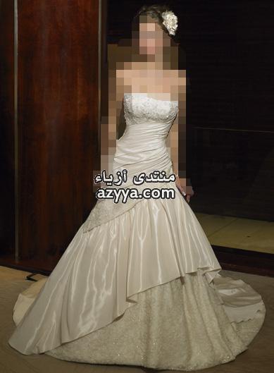 الفساتين الناعمهلمسات ناعمه بحزام الساتان لفساتين الزفاففساتين الإنترنت .. أبداعكل