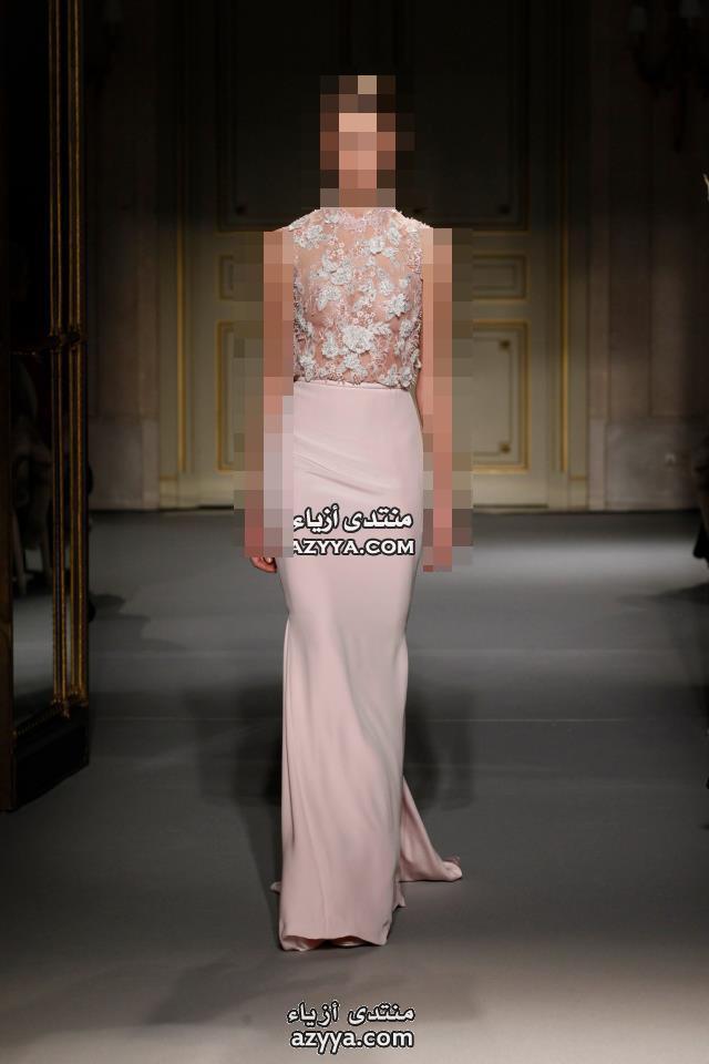 باريس للهوت كوتور 2014فساتين السهرة للمصمم رامى القاضى لـشتاء2014.إطلالة ملكية