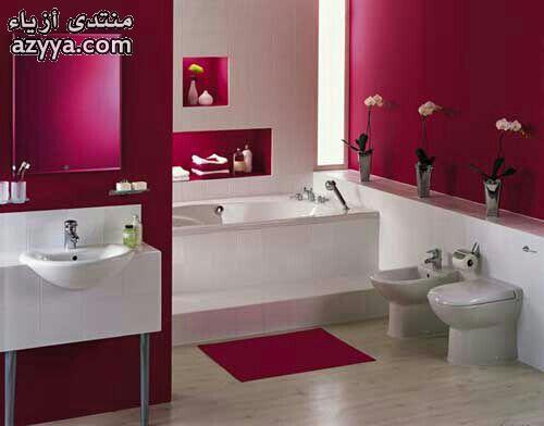 حمامات فخمةديكورات حمامات باللون الأصفرديكورات حمامات رومانسيه ديكورات حمامات جميلة