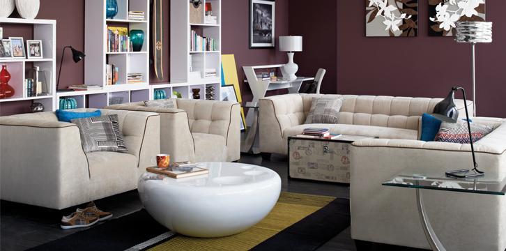 غرفة المعيشة وطريقة تناسقها مع اثاث الغرفة 2013مقاعد عملية لغرف